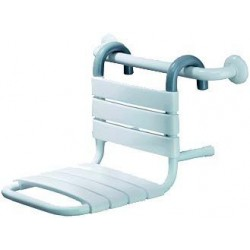 Siège de douche suspendu sur barre d'appui