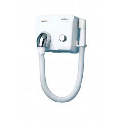 Sèche-cheveux Saniflow avec flexible bouton-poussoir en acier -