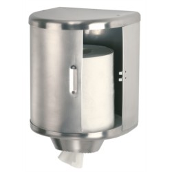 Distributeur essuie-mains pour bobine format 450 inox satiné