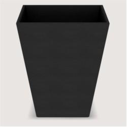 CORBEILLE PYRAMID WAVE LEATHERETTE - DIM CM H30 * L25 * L25 - BLACK