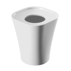 Corbeille Trash 8 litres blanc