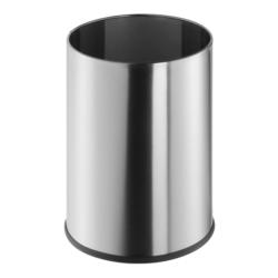 Corbeille à papier Geesa (9 litres) en acier brossé