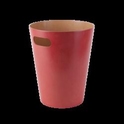 Corbeille écologique Woodrow rouge 8L