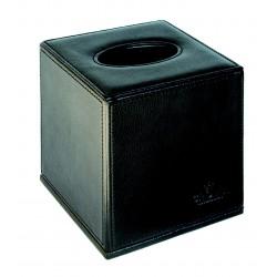 Distributeurs de mouchoirs à poser - Aspect cuir noir et fermeture magnétique
