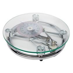 Pèse-personnes mécanique circulaire - verre et chrome