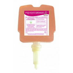 Carton de 12 cartouches de 300 ml Preven's Grenade Gel douche corps & cheveux